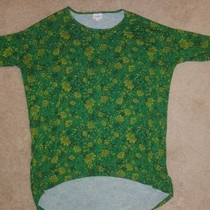 EUC Lularoe Irma shirt, Green for St. Patrick's